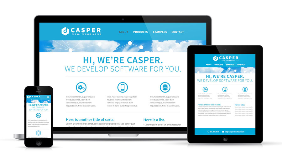 Casper cloud responsive design layouts