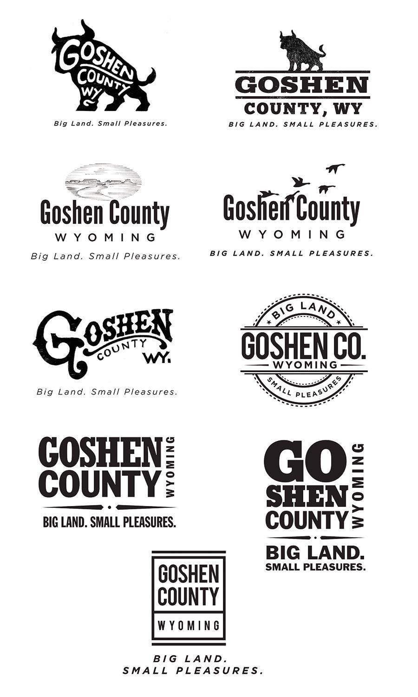 Goshen logo sketches