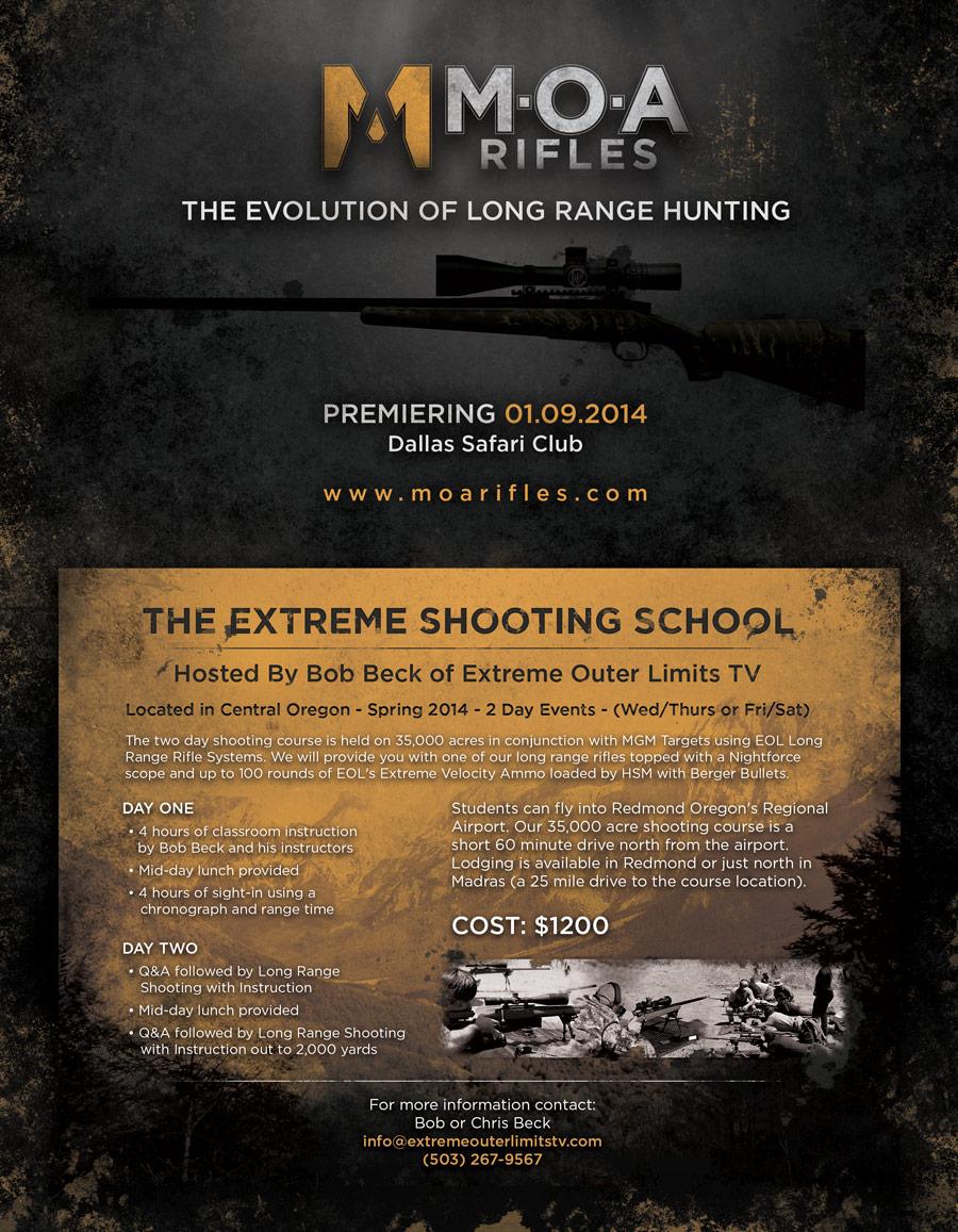 MOA Rifles Ad design